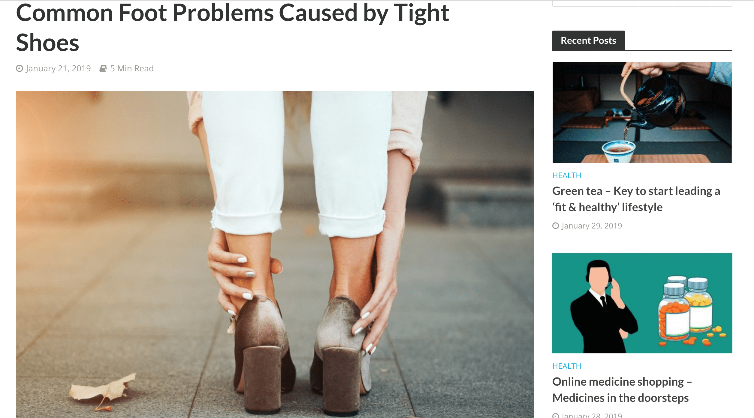 Common Foot Problems Caused by Tight Shoes