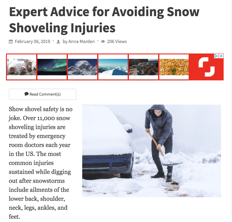 Expert Advice for Avoiding Snow Shoveling Injuries