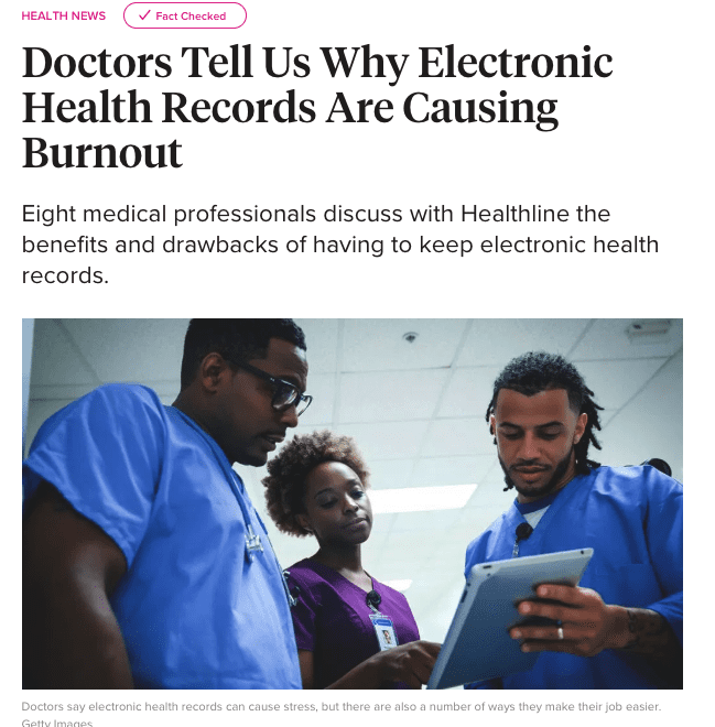 Doctors Tell Us Why Electronic Health Records Are Causing Burnout