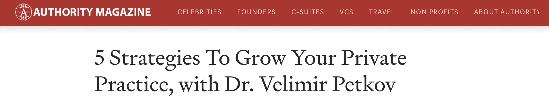 5 Strategies To Grow Your Private Practice, with Dr. Velimir Petkov