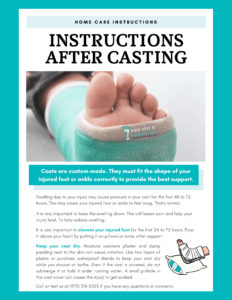 instructions after casting