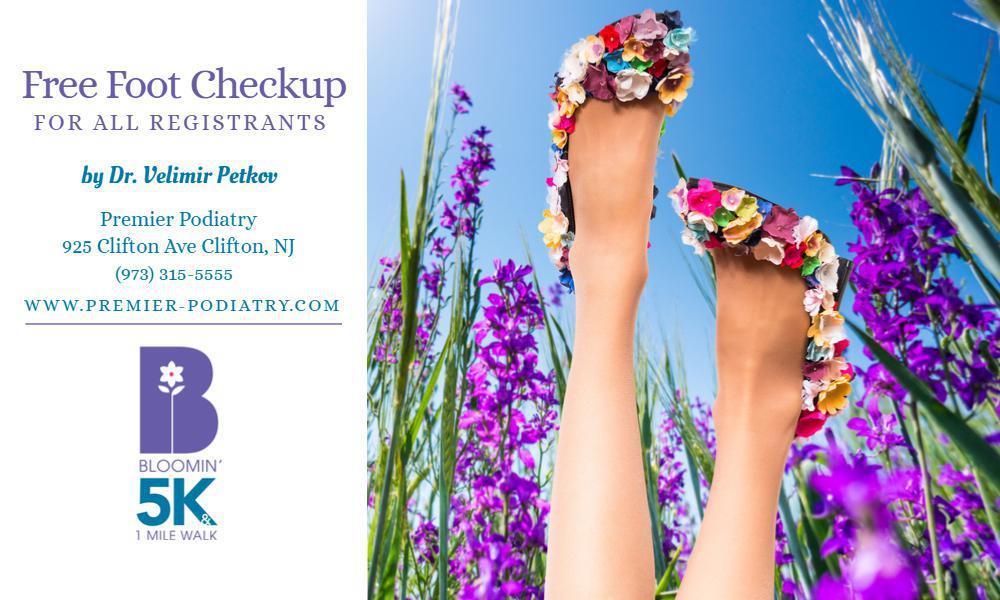 free foot checkup for all registrants