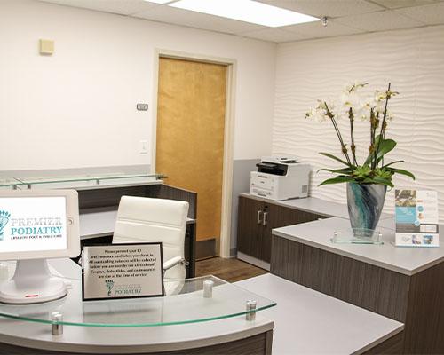 Premier Podiatry Clifton NJ Reception Area