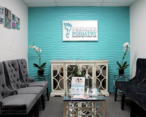 Waiting Room at Premier Podiatry in NJ